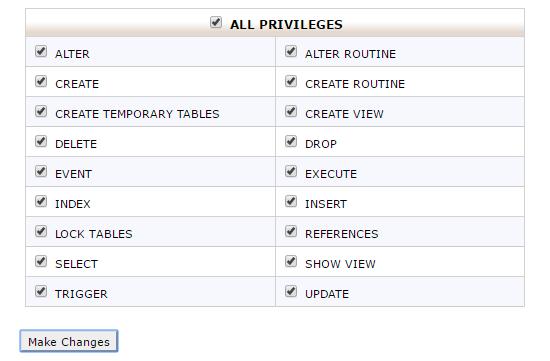 添加一个MySQL用户
