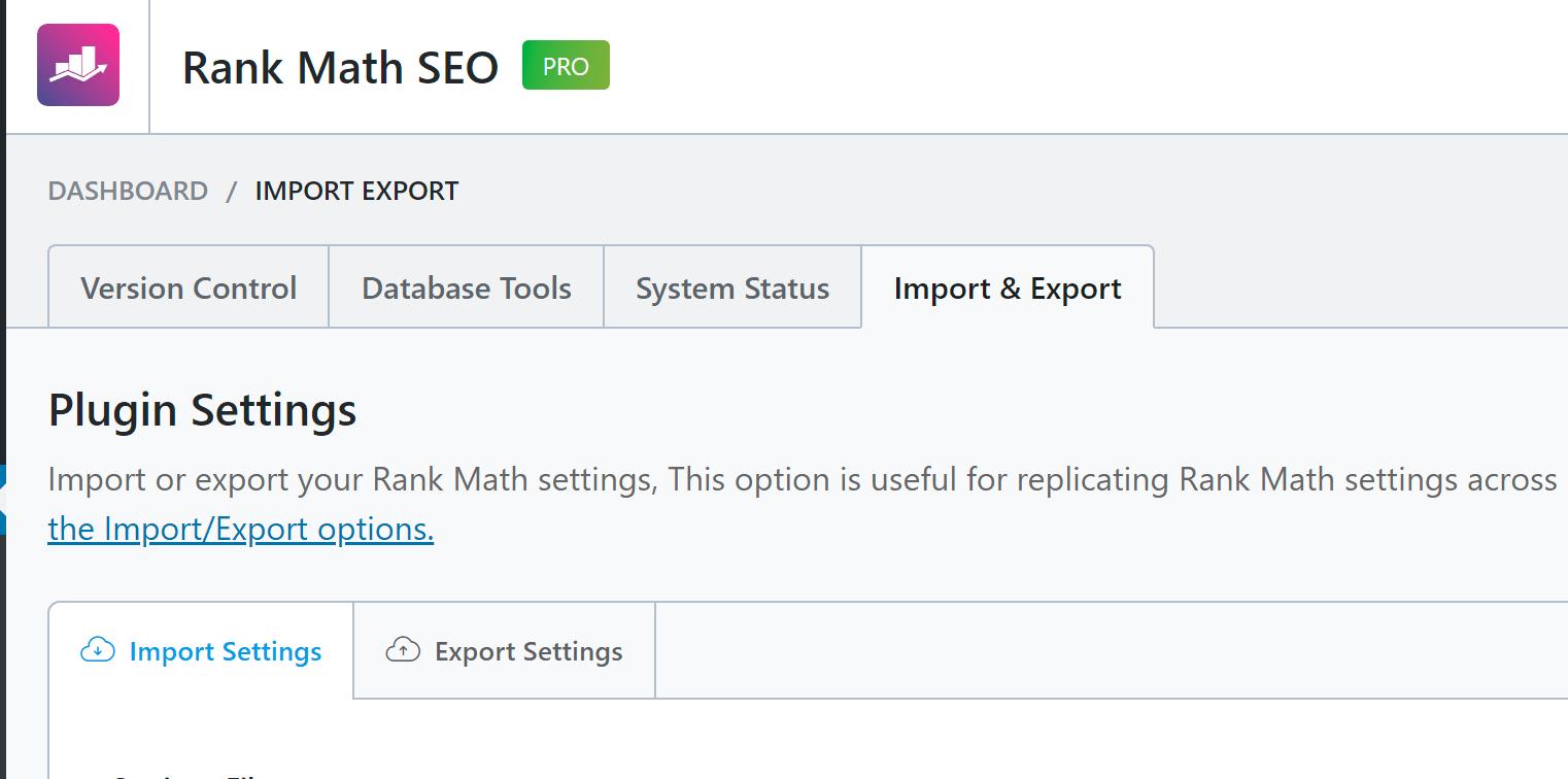 Rank Math SEO插件导入其他SEO插件数据