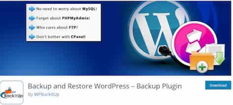 wordpress备份插件Backup and Restore WordPress