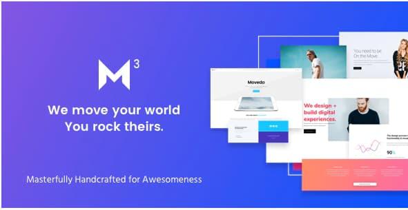 Movedo主题免费下载–响应式多用途WordPress主题