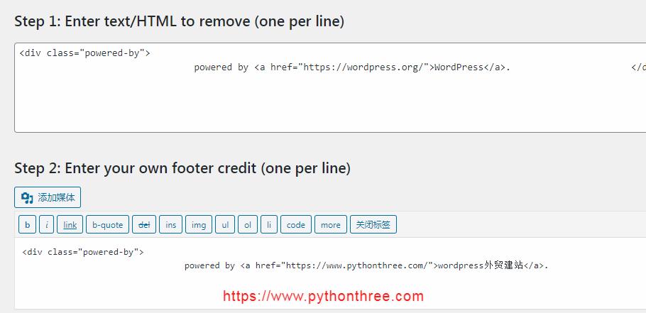 Remove Footer Credit插件删除wordpress页脚