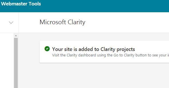 Bing站长工具新增Microsoft Clarity功能