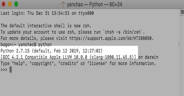 如何在MacOS上将Python3设置为默认python版本