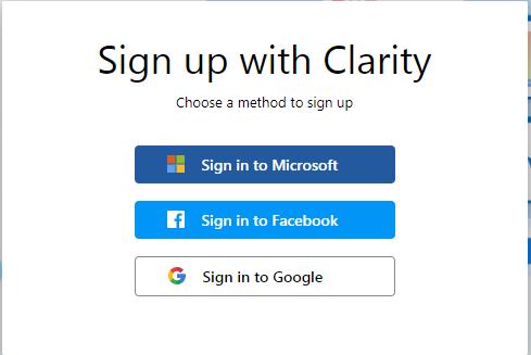 官网登录Microsoft Clarity