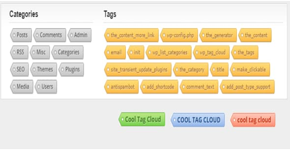 WordPress标签云Cool Tag Cloud标签云插件教程