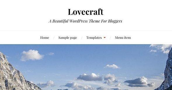 Lovecraft:响应式多用途WordPress主题免费下载