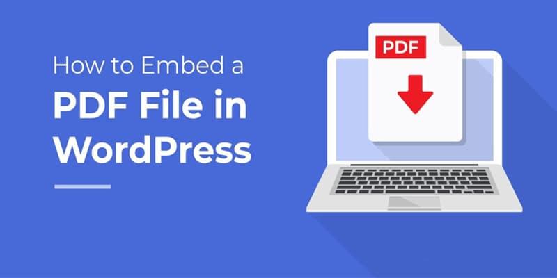 如何在WordPress中添加PDF文件