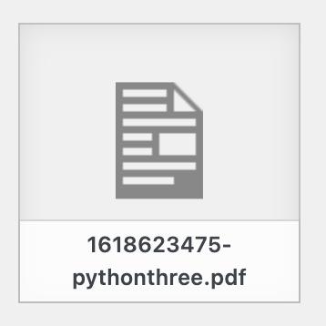 WordPress媒体库pdf图标