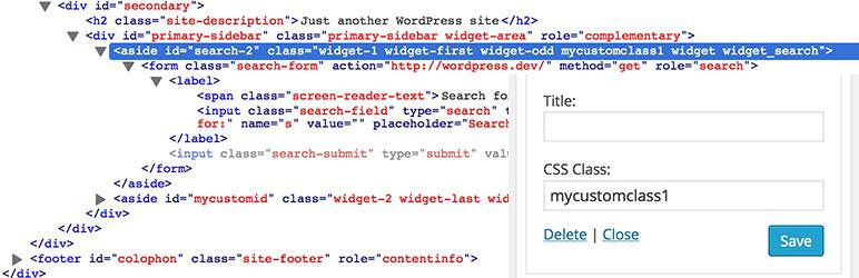 Widget CSS Classes wordpress小部件插件