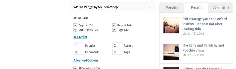 WP Tab Widget wordpress小部件插件
