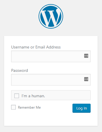WordPress登录