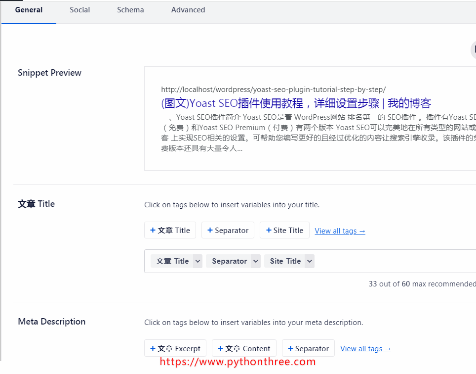 All in One SEO Pack插件设置元标签