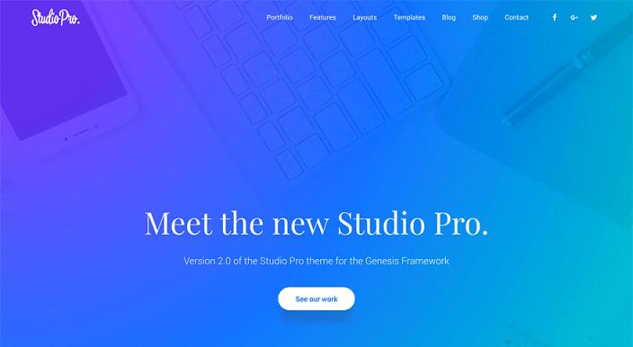 免费下载Genesis Framework多用途创意子主题Studio Pro Genesis子主题