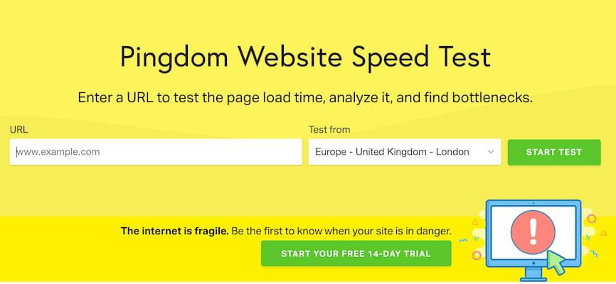 Pingdom网站速度测试工具