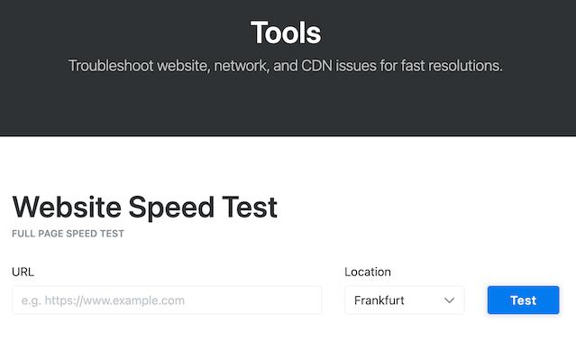 KeyCDN网站速度测试工具