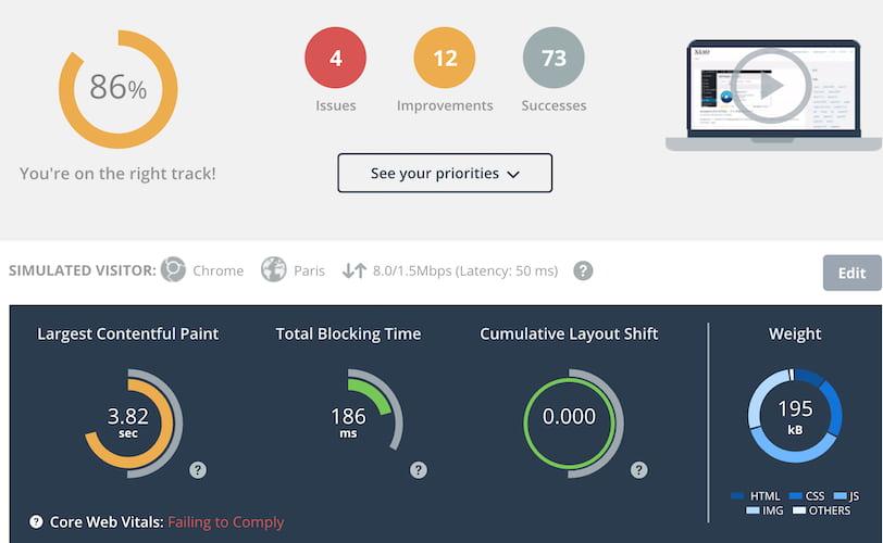 DareBoost网站速度测试工具