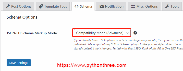 WP Last Modified Info Schema设置