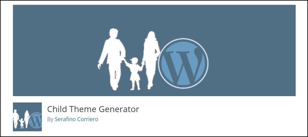 Child Theme Generator插件子主题生成器