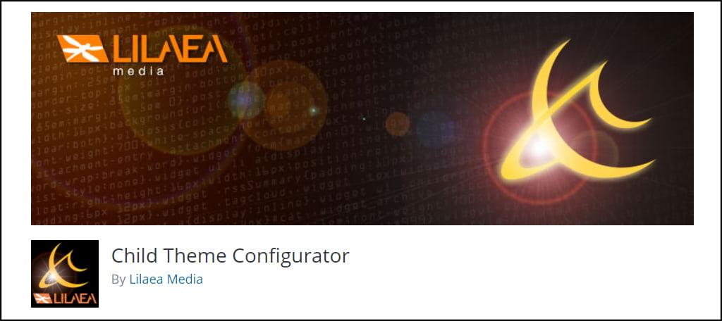Child Theme Configurator插件子主题生成器