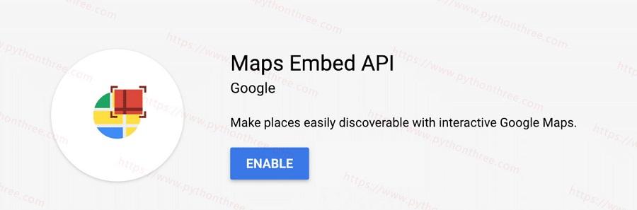 启用Maps Embed API