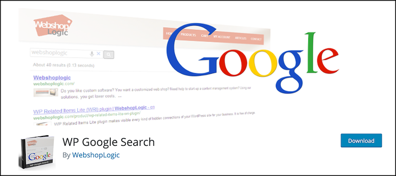 WP Google Search插件