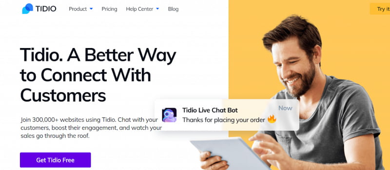 Tidio在线聊天插件