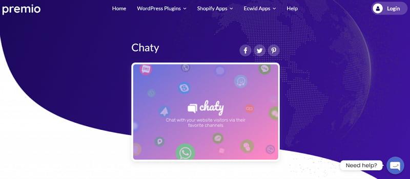 chaty在线聊天插件