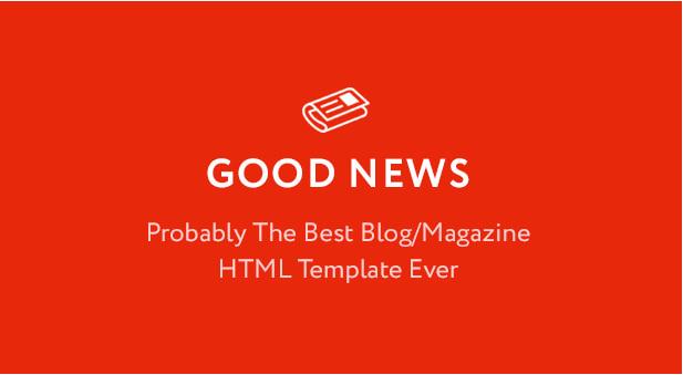 WordPress主题免费下载Good News主题