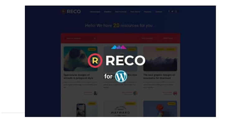 WordPress主题免费下载Reco主题