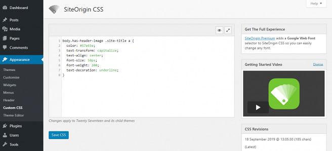 SiteOrigin CSS 插件