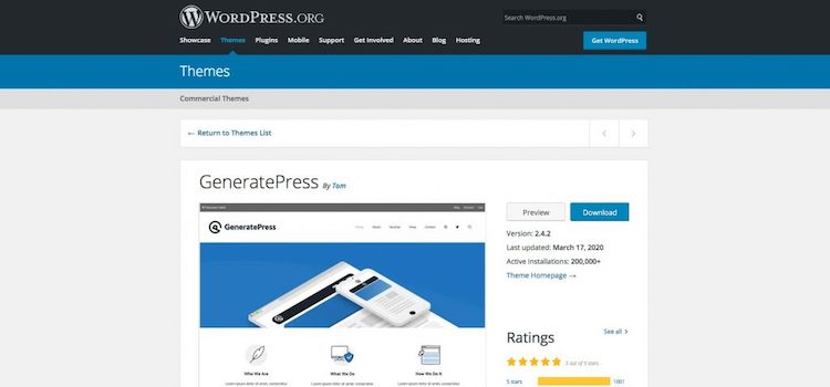 WordPress博客主题GeneratePress Premium主题免费下载