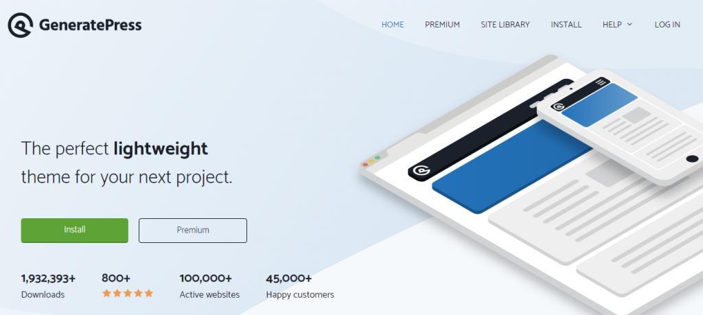 WordPress博客主题GeneratePress Premium主题