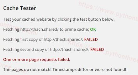 WP Super Cache缓存插件页面不相符!时间戳有差异或者不存在!