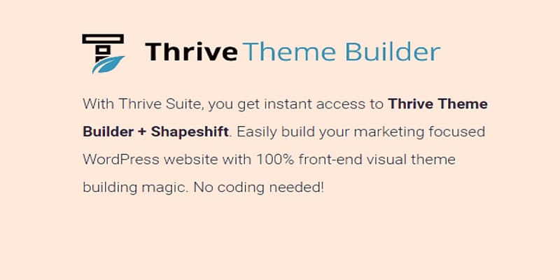 Thrive Theme Builder主题免费下载WordPress主题下载