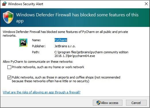 Windows安全提醒