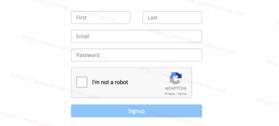 复选框reCAPTCHA