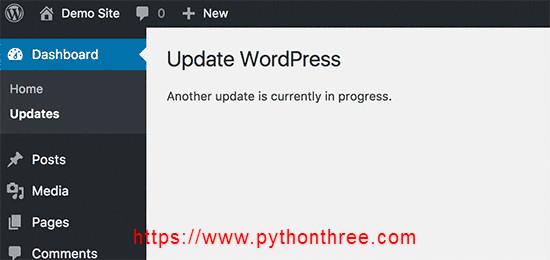 如何修复另一个更新正在进行中WordPress升级错误