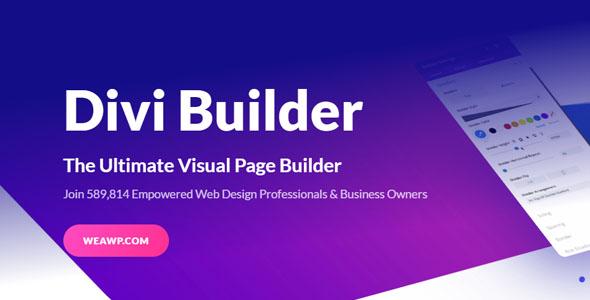 Divi Builder WordPress页面生成器插件免费下载