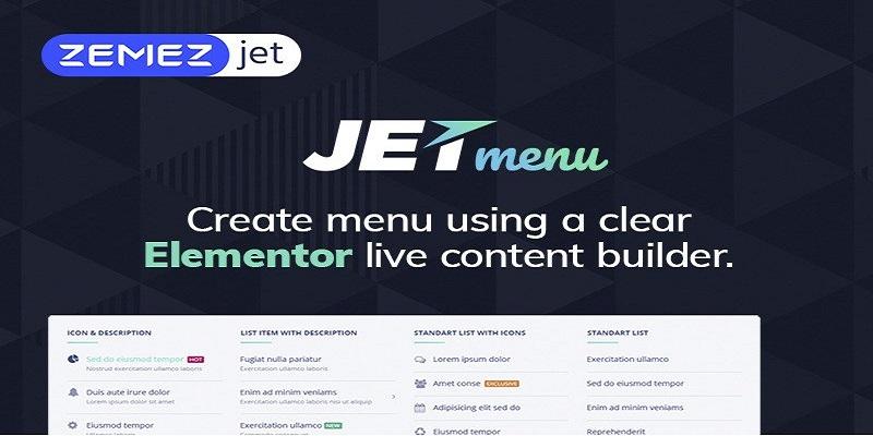 JetMenu插件免费下载WordPress超级菜单插件