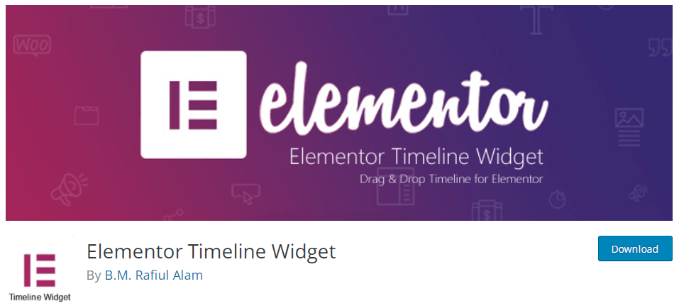 Elementor-Timeline-Widget时间轴插件