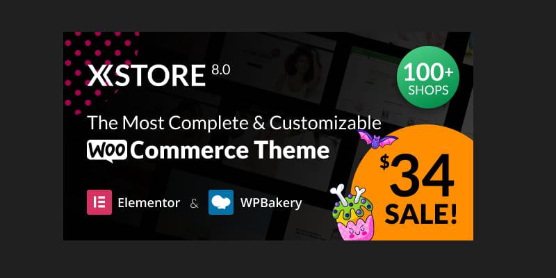 WooCommerce主题XStore免费下载WordPress多用途主题